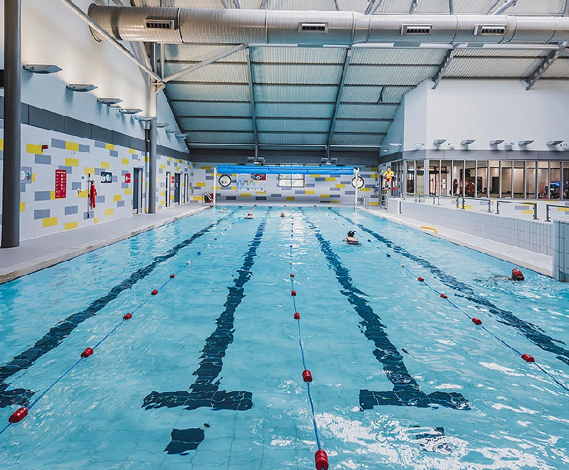 Langley Leisure Centre -  a newly refurbished state-of-the-art gym and 25m swimming pool